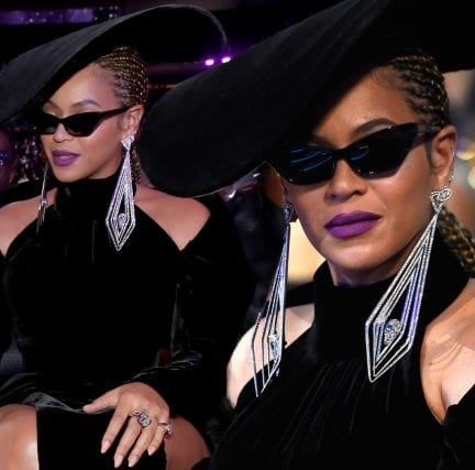 Drunk In Diamonds: Beyoncé wears $6.8m of custom jewellery to the Grammy Awards as she pays tribute to the Black Panther party in sexy double thigh-split velvet gown