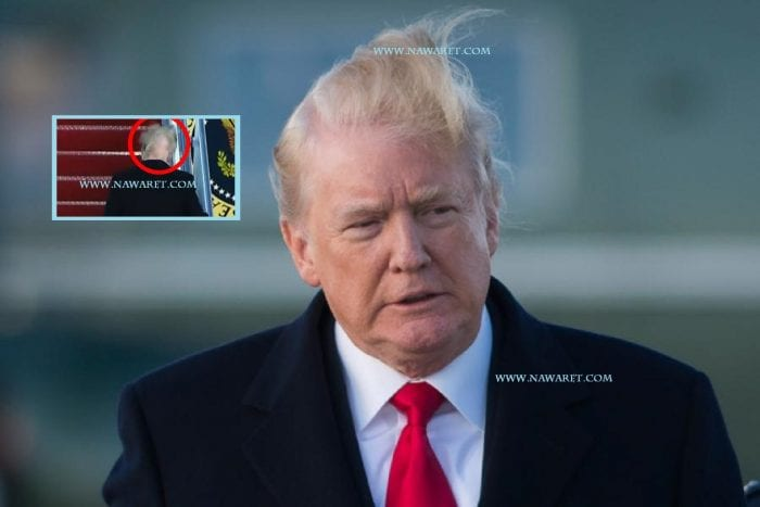 Video of Donald Trump's hair blowing in the wind fuels speculation over president's hair loss