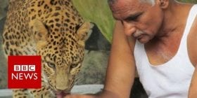 Indian man shares his house with leopards and bears