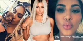 Kim Kardashian goes topless on FaceTime to wish Mert Alas a happy birthday
