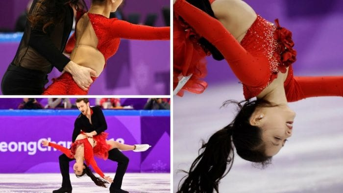 YURA MIN OLYMPIC Wardrobe Malfunction ice Skating 2018