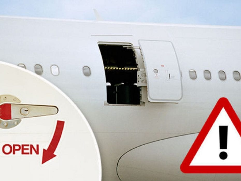 That's scary: Airplane exit door flies off as the vehicle lands