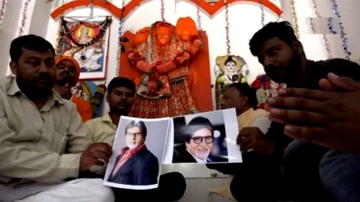Fans of Amitabh Bachchan in Allahabad offer prayers for his speed