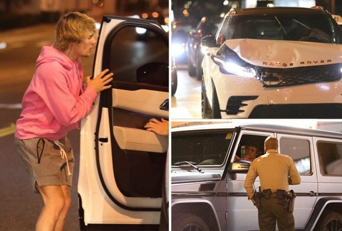 Justin Bieber Is OK After Car Crash in West Hollywood |