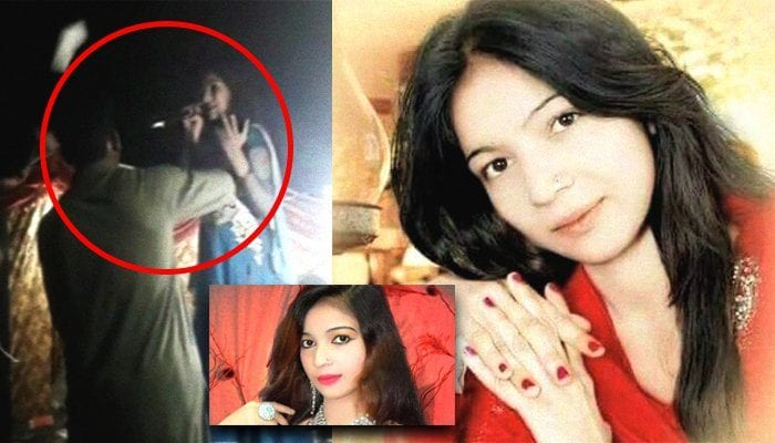 Drunk man shoots pregnant singer dead on stage because she refuses to dance for him while men throw money at her in Pakistan