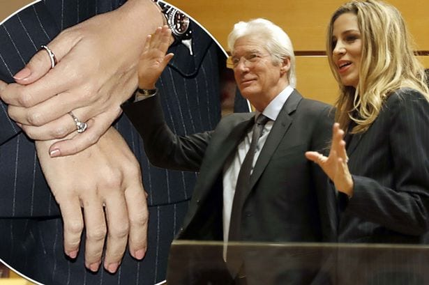 Is Richard Gere engaged? Pretty Woman star, 68, sparks marriage rumours as girlfriend Alejandra Silva, 34, wears diamond ring on THAT finger