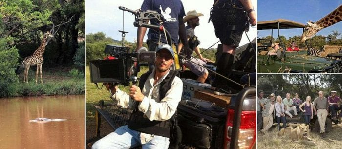 Award winning director, 47, died by Gerald the GIRAFFE as he films close up shot of the animal