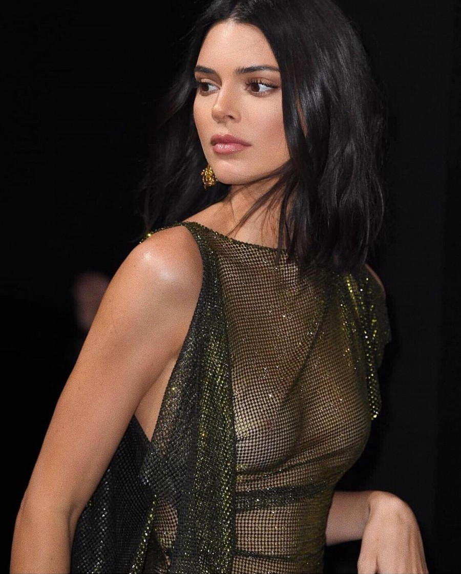 Braless Kendall Jenner leaves NOTHING to the imagination in sheer sparkling mini dress as she leads the glamour at Chopard party