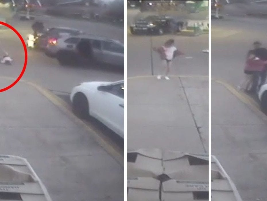 Shocking moment 11-year-old girl jumps out of carjacked vehicle