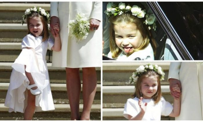 Princess Charlotte Steal The Show At Prince Harry and Meghan Wedding
