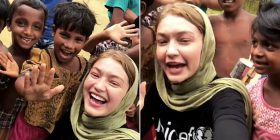 Gigi Hadid heads to Bangladesh to speak with women and children at the world's largest refugee camp