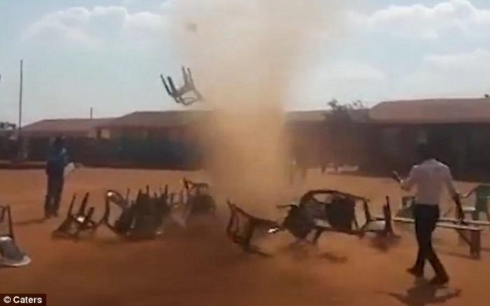 A dust devil in Africa .
