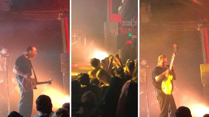 Rock Bands Lead Singer Punches Fan in Audience