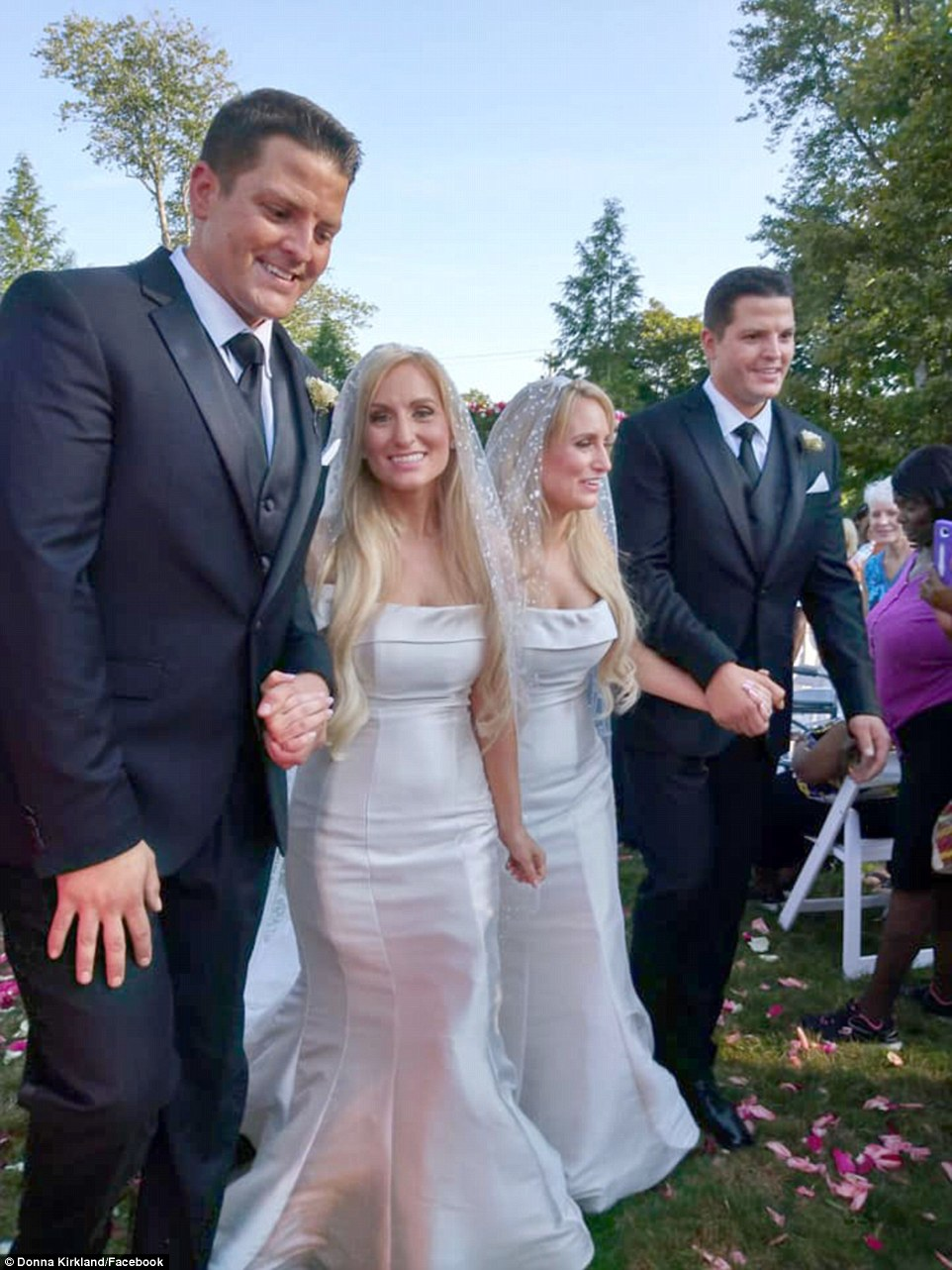 Identical twin sisters receive surprise joint proposals from identical twin brothers who they met at a twin festival