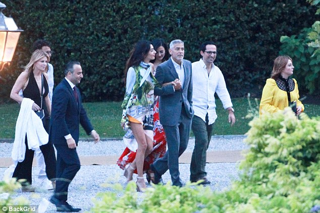 George Clooney and Amal Step Out for Stylish Dinner with Stella McCartney