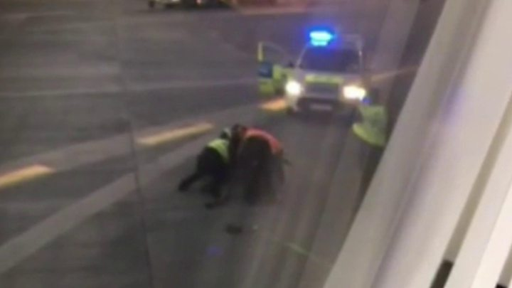 Dublin Airport plane-chasing passenger charged