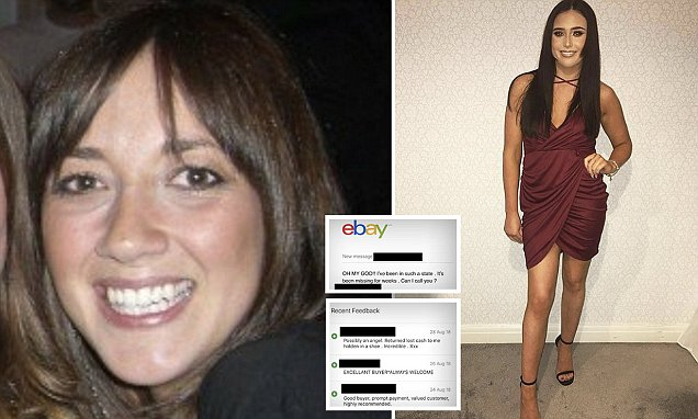 Honest sole! Student, 19, finds £1,000 inside trainers she bought on eBay... and sent the cash back