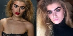 American model Sophia Hadjipanteli is breaking stereotypes - with her unibrow