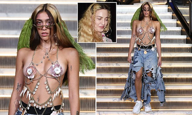 Madonna's Daughter Lourdes Leon Shows Some Skin at Her NYFW