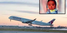 American baby dies 'after suffering breathing problems' on Qatar Airways flight to Hyderabad with Indian father