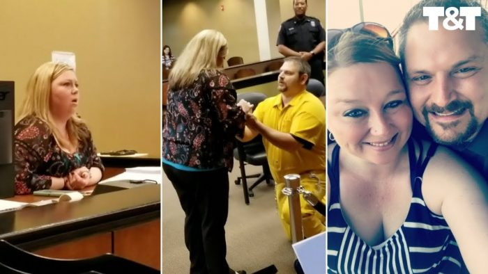 Probation Officer Stunned As Boyfriend Proposes In Shackles