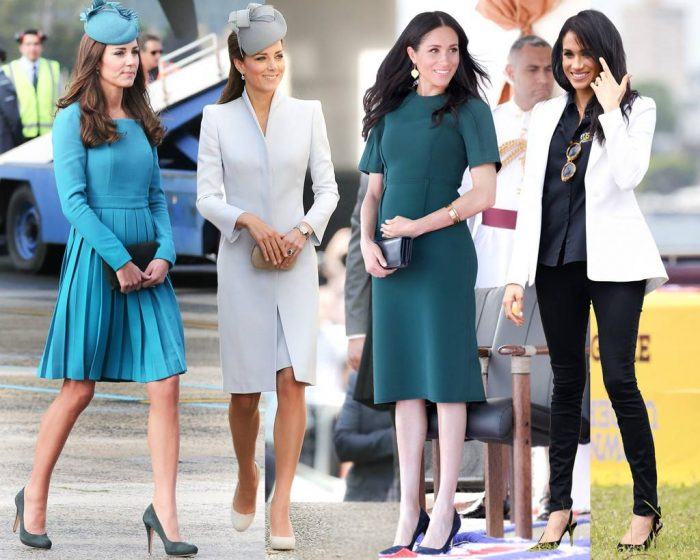 Kate Middleton and Meghan Markle fashion style