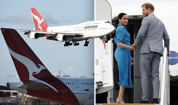 Plane carrying Prince Harry and Meghan aborts landing in Sydney