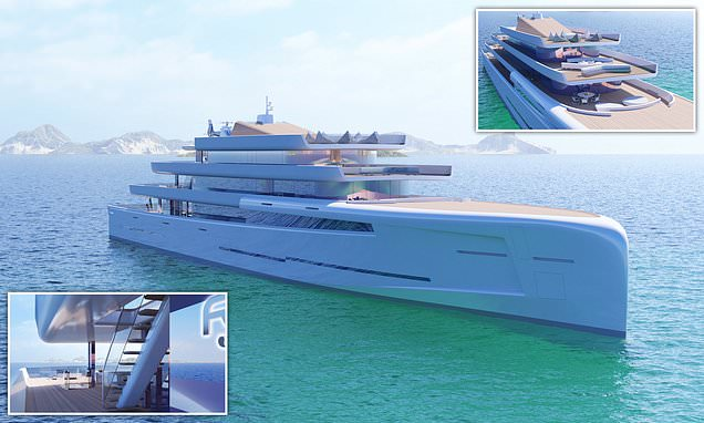 Now you sea me... £200million superyacht that turns invisible to anyone more than 50 metres away because it is covered in mirrors