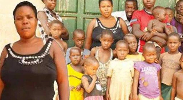 Ugandan woman who gave birth to 44