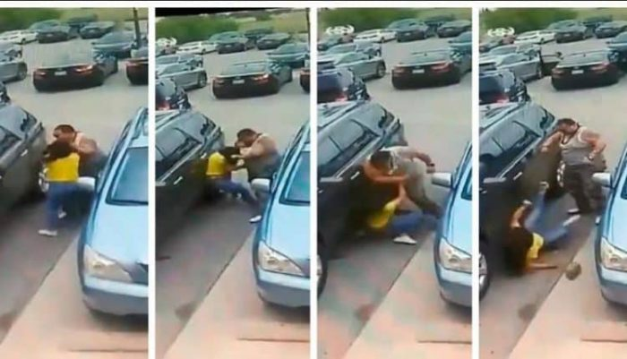 San Antonio Man Beats A Woman After She Punches Him On A Parking Lot