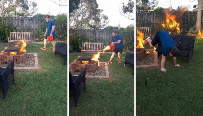 Man Accidentally Sets Fire To Garden Trying To Kill Bug