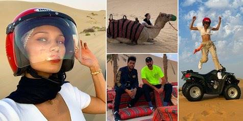 The Weeknd & Bella Hadid's Abu Dhabi Trip