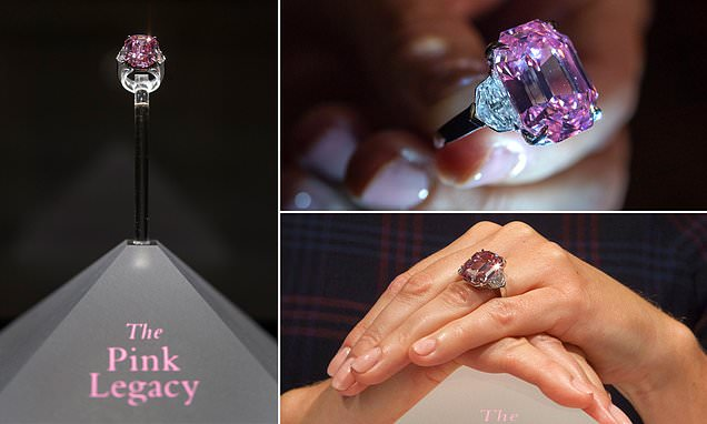 Pink diamond is bought for a record $50 MILLION by New York jeweller Harry Winston