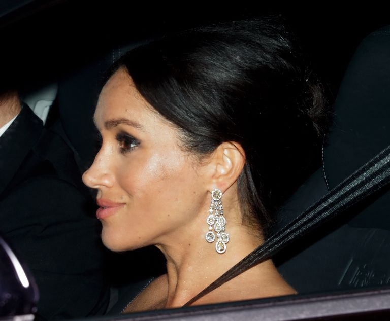 Kate Middleton And Meghan Markle Match Looks With Jewelled Earrings And Updos For Prince Charles' Birthday Party