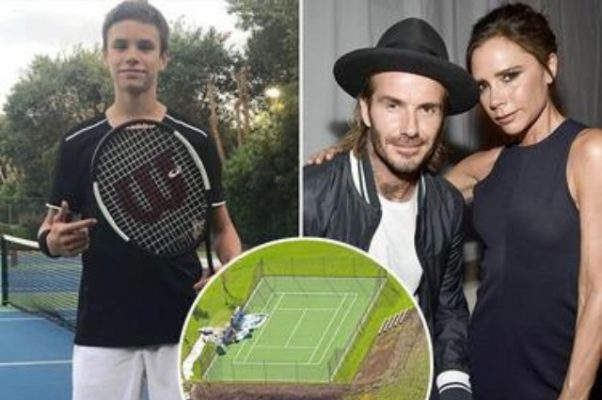 Victoria and David Beckham gave her son a tennis court in 2.6 million