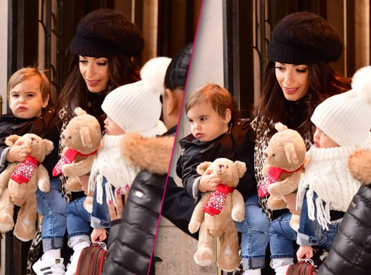 Amal Clooney takes rare outing with twins