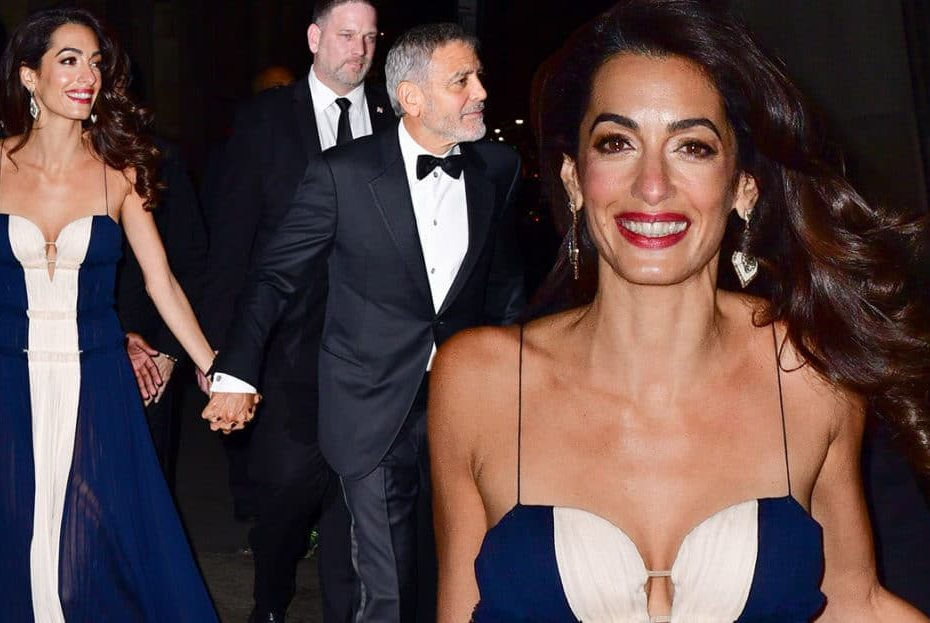 George and Amal Clooney Go Glam for Date Night With His Parents