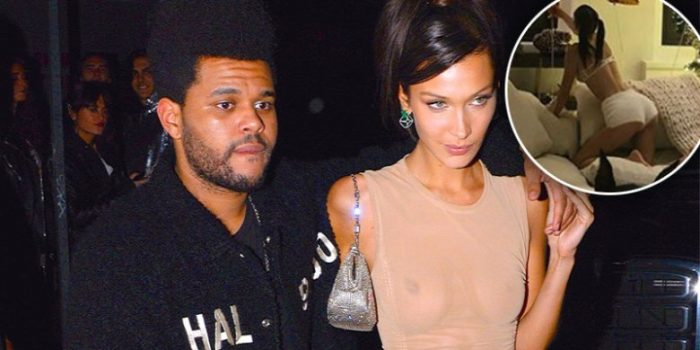Bella Hadid shows off pert derriere in hot pants after enjoying Christmas with The Weeknd D