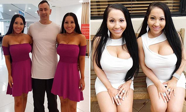 'We're trying to have babies with the SAME MAN': Identical twins who sleep in the same bed with their shared boyfriend reveal plans to fall pregnant with him