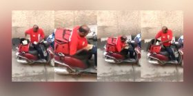 Zomato delivery man stealing food from ordered food, now u have