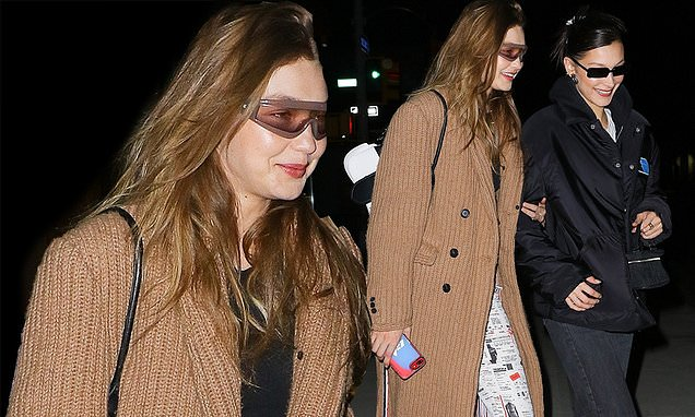 Gigi Hadid enjoys quality girl time with Bella as sisters head to friend's birthday bash in NYC