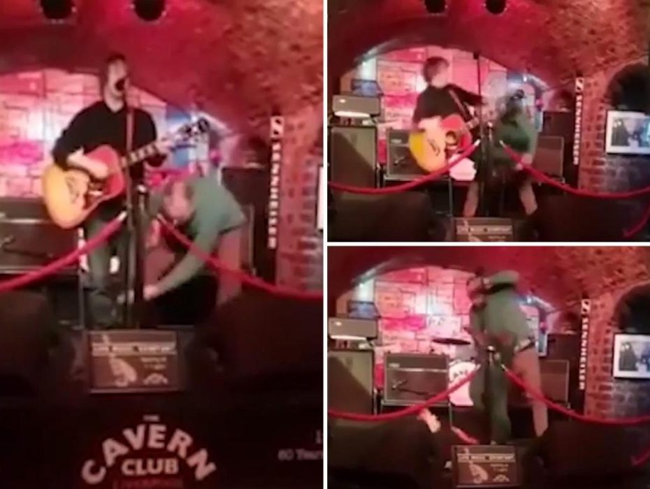 Singer is attacked while performing on stage at The Cavern