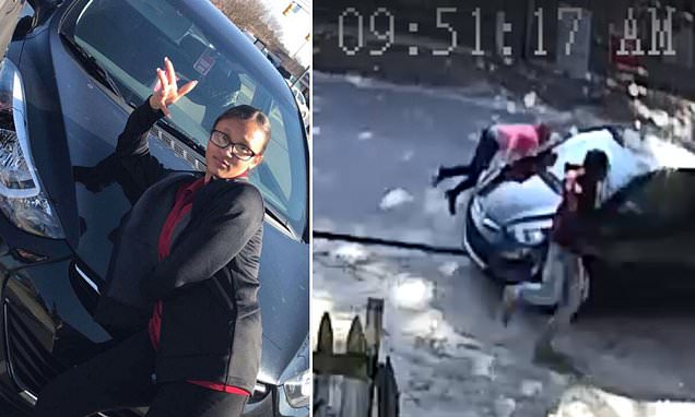 North Carolina police hunt for hit and run driver who posted selfie with her damaged car on Facebook