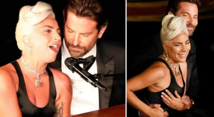 Bradley Cooper and Lady Gaga perform very steamy Shallow duet after actor's partner Irina Shayk branded 'jealous' by viewers as she sits between the pair