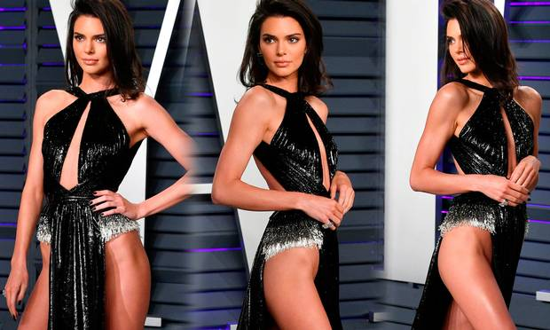 Kendall Jenner wore what might be the most daring dress we've ever seen to the Vanity Fair Oscar party I