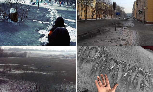 Incredible Black snow is falling in Siberia