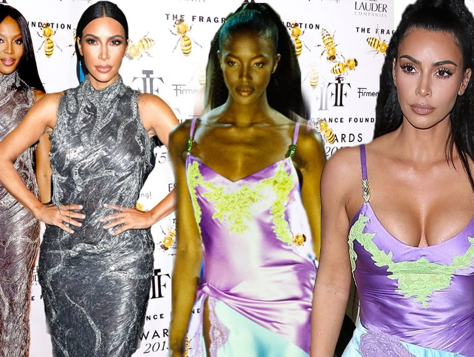 Kim Kardashian copies Naomi Campbell AGAIN! Reality star's Versace slip was latest look inspired by supermodel style icon
