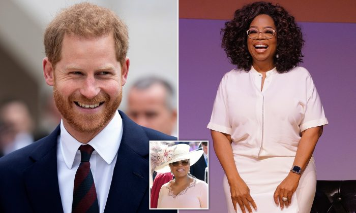 Prince Harry reveals he has partnered with Oprah on an 'enlightening' mental health documentary that the pair has been working on for 'several months' during 'secret meetings in London'