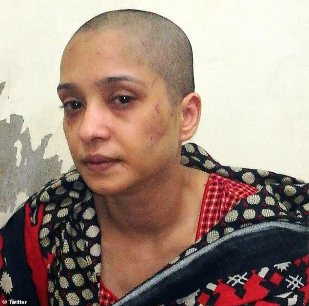 Husband 'strips his wife, beats her with a pipe and shaves off her hair after she refuses to dance for his friends' in Pakistan