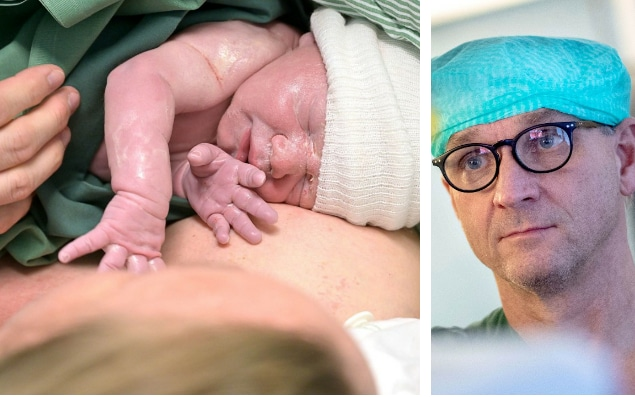 Swedish woman gives birth to a healthy boy after becoming the world's FIRST to get pregnant after having a womb transplant performed using a robot